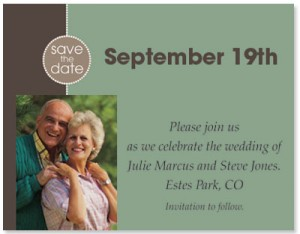 Save the Date Modern Photo Postcards