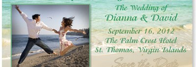 Seashore Scene Save the Date Oversized Postcards
