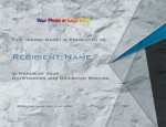 Slate Gray Modern Certificates by PaperDirect