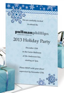 Snowflake Dazzle Specialty Flat Invitations by PaperDirect