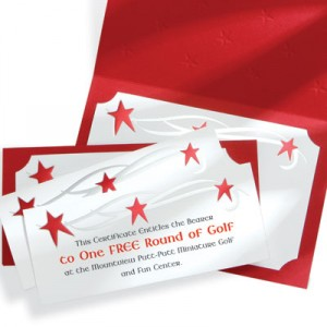 Stars Foil-Stamped Gift Certificates by PaperDirect