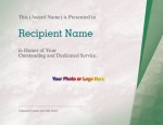 Suffuse Green Modern Certificates by PaperDirect