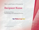 Suffuse Red Modern Certificates by PaperDirect
