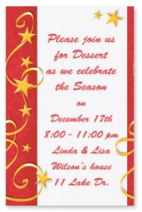 Swirs of Stars Casual Invitations