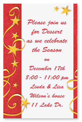 Christmas party ideas for teenagers paperdirect blog swirs of stars casual invitations stopboris Choice Image