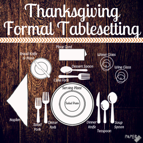 Thanksgiving Table setting graphic