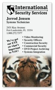 Tiger Eye Business Cards