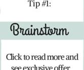 Tip #1 Brainstorm
