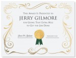 Tracery Gold Certificate by PaperDirect
