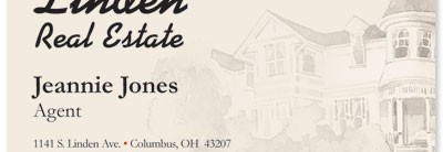Victorian House Business Cards