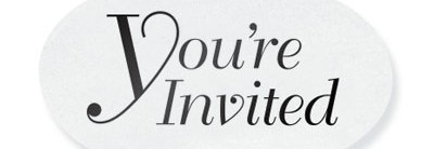 You're Invited Clear Embossed Seals