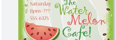 Watermelon Party Postcard by PaperDirect