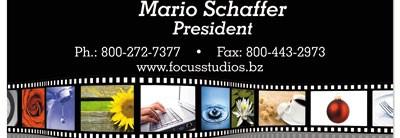 Wavy Film Strip Business Cards