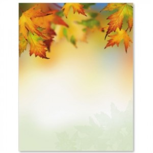 [one_third_last] Autumn Maple Border Paper