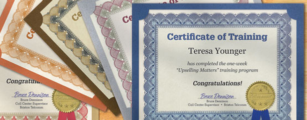 award certificates from PaperDirect