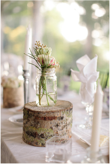canning jar centerpiece