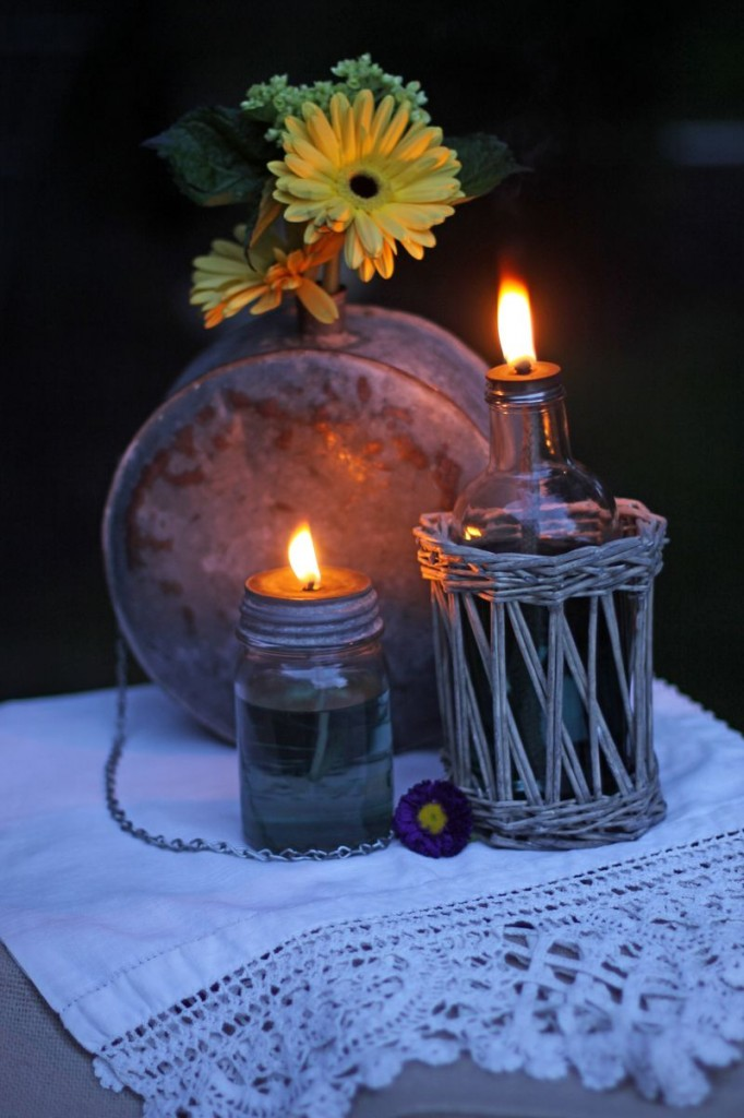 canning jar oil lantern