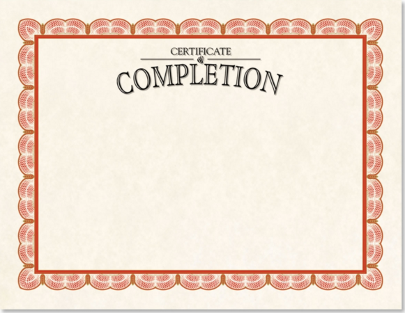 classic completion certificate