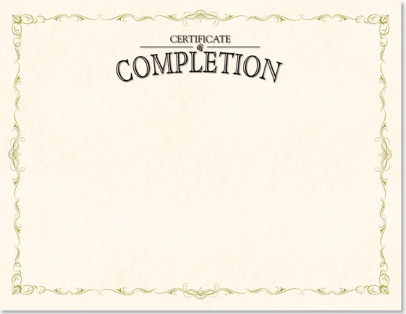 Certificate of Completion Wording | PaperDirect Blog
