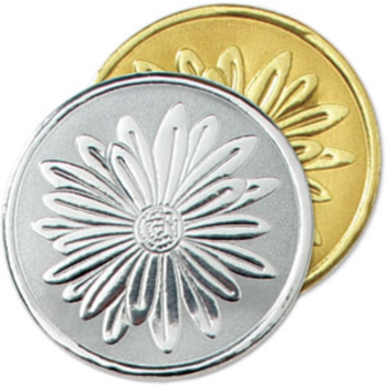 daisy embossed seal