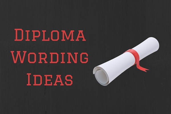 diploma wording - ready to use