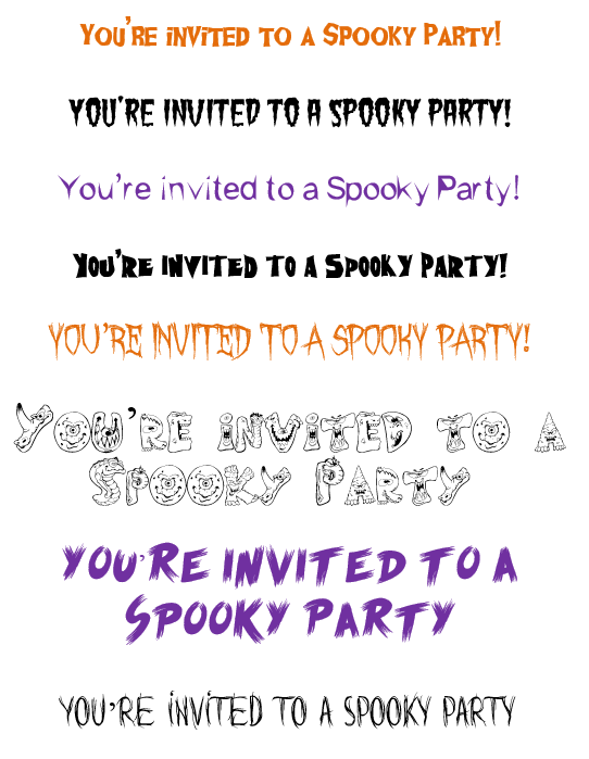 8 Free Halloween Fonts Perfect for Invitaitions & Flyers ...