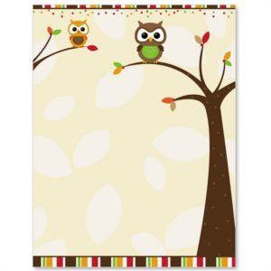 owl fall paper