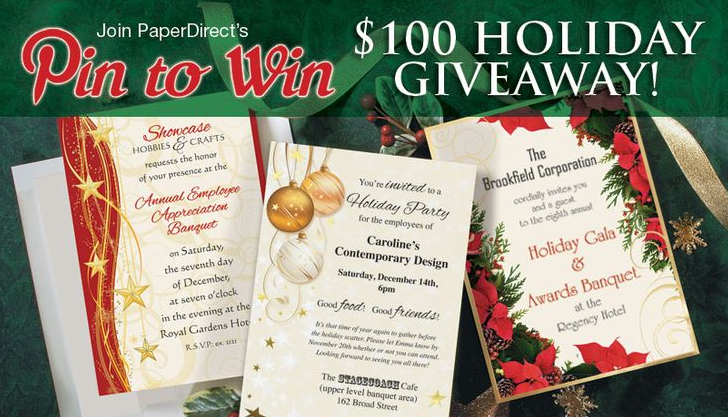 PaperDirect Christmas Pin to Win