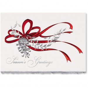 Pine cone Foil Greeting Card