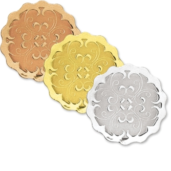 scalloped embossed seals