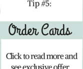 Small Business Tip #5 - Order Cards