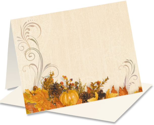 Swirls thanksgiving Note Cards