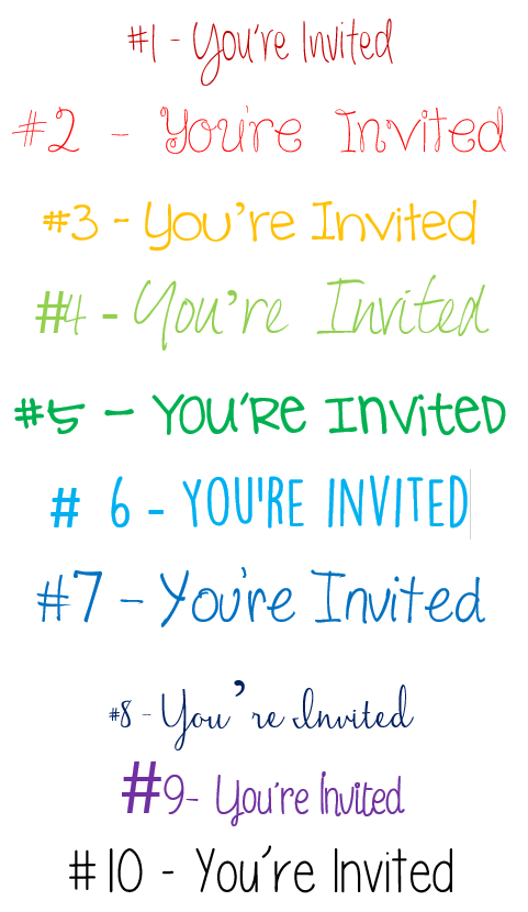 free wedding fonts for DIY Invitations