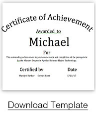 Find The Perfect Certificate Template For Your Award In PaperDirectu0027s Free  Template Library Below.  Certificate Award Template
